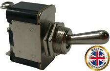 (2) Heavy Duty ON - ON Metal Toggle Switch 25 Amps 12 Volt - UK Made