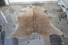 BROWN EXOTIC  COWHIDE Rug HAIR ON SKIN  Leather cowhide- (3047)  67'' x  68''