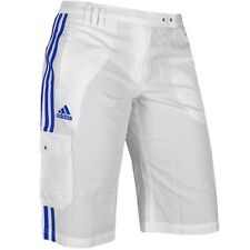 6abb803240c9b0 Adidas Damen Cargo Bermuda Capri Hose Outdoor Shorts Wanderhose kurz  weiss blau