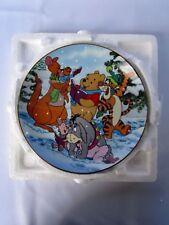 "Disney  Winnie The Pooh  "" A Singing Sort Of Holiday ""  Plate  -  Bradex"