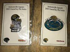 New n Pkg Lot 2 Jack Delrio 2003 & 2005 GameDay Pins Series Jacksonville Jaguars