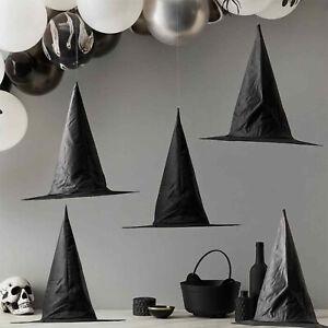 5/10pcs 38cm Black Witch Hats Halloween Party Decoration Women Costume Accessory