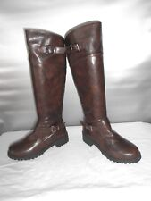 Women's Brown Fall Fashion Riding Motorcycle Knee High Boots Size 6.5 B