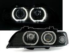 5er BMW E39 Angel Eyes Scheinwerfer Set von DEPO weiße LED Ringen Schwarz VFL H7