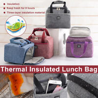 Lunch Bag Thermal Insulated Cool Bag Picnic Adult Kids Food Storage Lunch Box