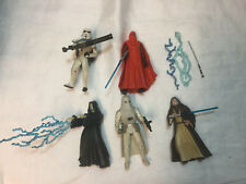 Vintage Kenner Star Wars figure and accessory lot of 5 obi wan emperor palpatine
