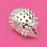 Genuine 925 Solid Sterling Silver Cute Hedgehog Charm Bead European Bracelet Fit