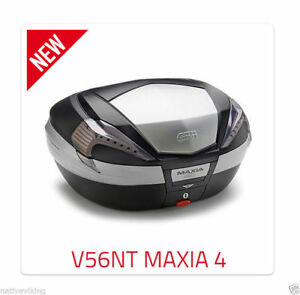 PIAGGIO MP3 500 2018 Sport TOP BOX complete GIVI V56NT CASE + SR5613 RACK + M5