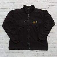 Vintage Mountain Hardwear Gore Windstopper Fleece Jacket Size XL Black