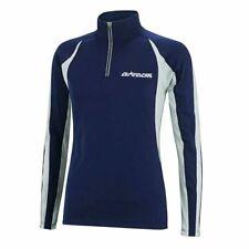 Airtracks Mens Womens Light Long Sleeve Running T-Shirt Track Top Navy - Small