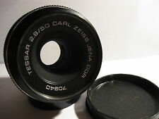 M42 Carl Zeiss Jena TESSAR  German black 2.8 / 50 MC  lens Caps