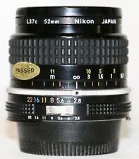 Nikon F Mount Nikkor 24mm f/2.8 AI Wide Angle Lens + L37c Filter