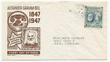 Canada Scott #274 First Day Cover Cachet Craft Ken Boll March 3, 1947 Brantford