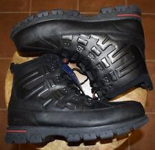 Men's-Polo-Ralph Lauren-Black-Leather-Shoes-Boots-13-New