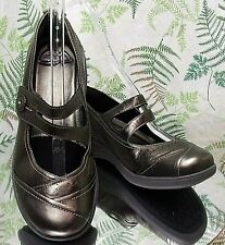 ARAVON COPPER BROWN LEATHER LOAFERS MARY JANES SLIP ONS SHOES US WOMENS SZ 7.5 D