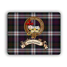 MacDonald Scottish Clan Mousepad Dress Tartan Crest Latin Motto Computer Mat