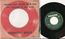 "CHANTAL KELLY RARE FRENCH 7"" ""pochette cible"" BEAT MOD YEYE GIRL POP"