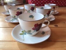 Alfred Meakin Red Rose Tea Set Cups & Saucers