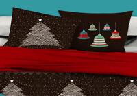 Pair of Merry Christmas Standard Pillowcases 48cm x 73cm New