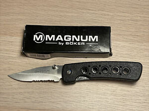 Magnum Partially Serrated Folding Knife by Boker