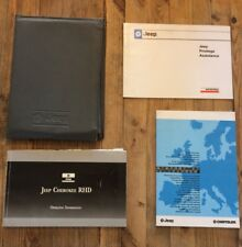 1989 - 2001 JEEP CHEROKEE XJ OWNERS HANDBOOK MANUAL PACK WITH DEALER WALLET