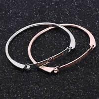 Engraved Inspiration Believe in yourself Rhinestone Bangle Bracelet Jewelry Gift