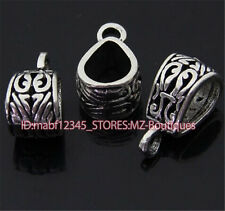 PJ108 10pcs Tibetan Silver Charms Pendant Hanger Bails Necklace Connector