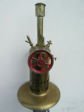 jouet/machine vapeu ancienne à vapeur:laiton.roue peinte rouge.Toy.Bing?Hanseat