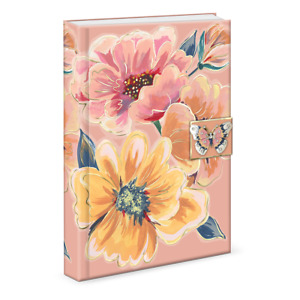 Punch Studio E1 Florette Bouquet 6x8.5'' 208pgs Brooch Journal 47080