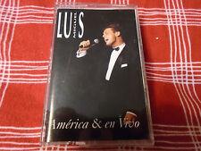 Luis Miguel AMERICA & EN VIVO CASSETTE OOP