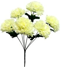 "6 x 3"" Carnations Artificial Silk Flowers Wedding Bouquet Crafts Decor Fake Faux"