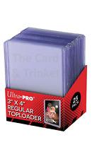 25 x Ultra Pro CLEAR TOPLOADER REGULAR 35pt 3 x 4 TOP LOADER LOADERS TOPLOADERS
