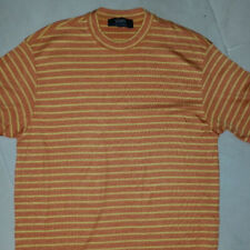VERRI T-SHIRT MEN'S SHORT SLEEVE SIZE 52 /ITALY MADE IN ITALY COLOR YELLOW/ORANG