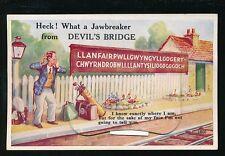 Wales Cardiganshire DEVILS BRIDGE LLanfair Golf Station Pocket Novelty 1950s?PPC