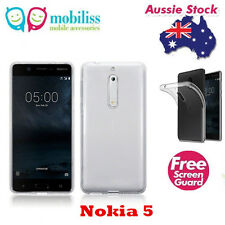 TPU Gel Jelly iSkin Case Cover for Nokia 5 - Ultra Clear