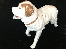 Superbe sujet ancien chien en biscuit porcelaine Bavent ?