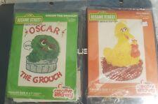 2 Pack Big Bird and Oscar the Grouch Sesame Street Needlecraft Kit.  1977 by...