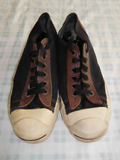 Vintage Converse Jack Purcell Black Brown Size 5.5 5 1/2 Made in USA Lo Low Top