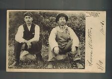 1906 Postcard Cover 2 Native American Indian Seneca Braves Salamanca Ny Cover