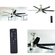 Kelbra 60 in. LED Indoor Brushed Nickel Ceiling Fan with Light Remote Control