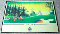 VINTAGE MICKEY MOUSE & GOOFY POSTER LUCKY SHOT THE ART OF DISNEY THEME PARKS