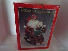 Musical & Animated Santa on Rocking Chair With Teddy Bear # 9802