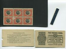 Canal Zone Scott 53c  Mint Booklet Pane of 6 Stamps w/Booklet Covers (CZ53-bp7)
