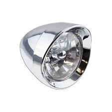 Lamp High beam Chrome Universal 10mm Bullet 6 inch Cruiser Headlight Moto