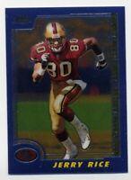 2000 Topps Chrome JERRY RICE Rare BASE FOOTBALL CARD #45 San Francisco 49ers HOF