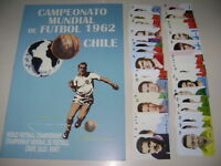 ALBUM RARE CHILE 62 WORLD CUP - ALBUM EMPTY + SET OF Stickers - 100% complete!