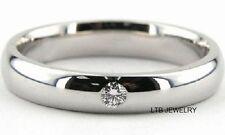 MENS 14K WHITE GOLD WEDDING BAND DIAMOND RING 4.5MM