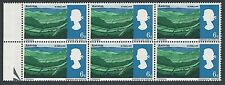 1966 Landscapes 6d (Phos) - Listed  Flaw AN for AND Block - MNH