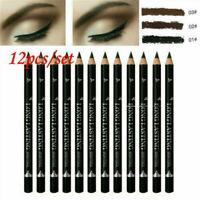 12PCS Waterproof Eye Brow Eyeliner Eyebrow Pen Pencil Makeup Cosmetic Tool Set