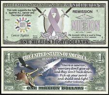 Lot of 500 BILLS - Fight ALL Cancer Lavender Ribbon Million Dollar Bill